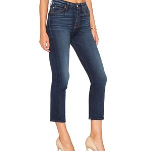 7 For All Mankind Straight Leg Crop Jean 25